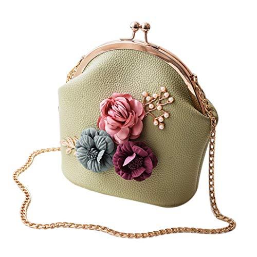 Felicove Damen Handtasche, Fashion Handtasche Schulter Stereo Blumen Tasche Kleine Tote Damen Handtasche Freizeit Taschen