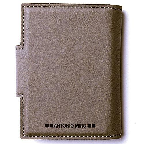 ANTONIO-MIR-Tarjetero-Piel-para-20-compartimentos-Satisfaccin-Garantizada-Presentacin-caja-con-logotipo-ideal-para-regalo-Marrn-Claro