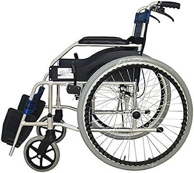 GUO Silla de ruedas plegable de aluminio portátil de viaje