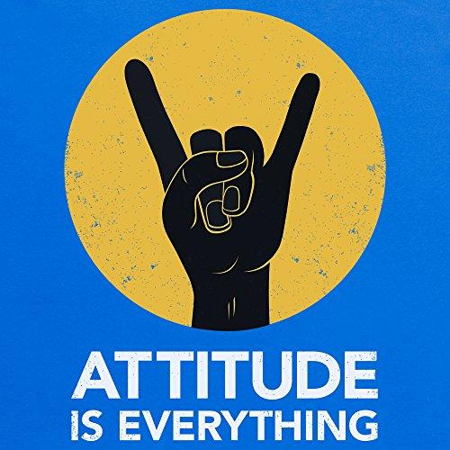 Attitude Is Everything Horns Light T-Shirt, Herren Royalblau