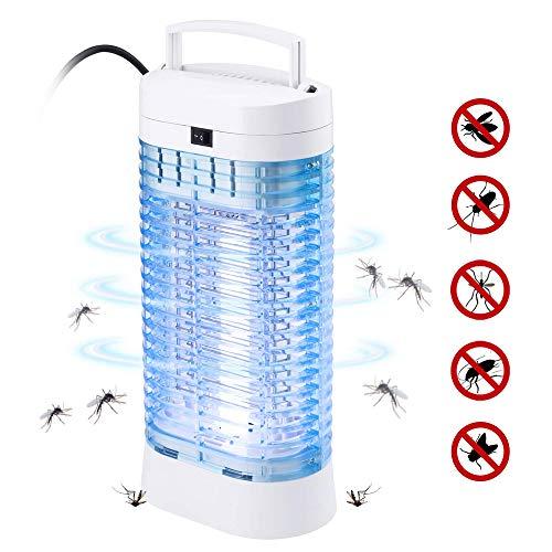 Fenvella bz06 zanzariera elettrica, 16w lampada antizanzare elettrico insetticida con luce uv e cassetto raccogli, trappola zanzare anti insetti per casa giardino interno esterno, bianco