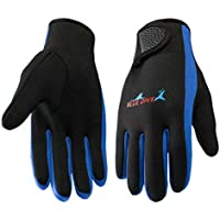 IREENUO Wetsuits 1.5 mm Guantes de Neopreno Premium Five Finger Guantes de Buceo (Azul,L)