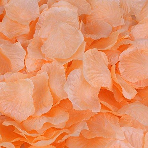 Hcstar 1200pcs matrimonio nuziale confetti decorativi artificiali realistico seta rosa petali di fiori (1200, orange)