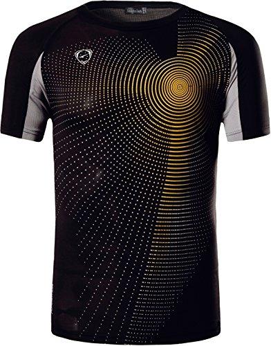 Jeansian Uomo Asciugatura Rapida Sportivo Casuale Slim Sports Fashion T-Shirts Maglia Vest LSL013 Black S