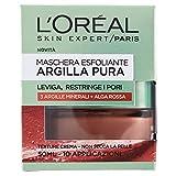 L'Oréal Paris Maschera per il Viso Argilla Pura con Alghe Rosse, Leviga e Ristringe i Pori del Viso, 50 ml