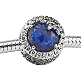 Bakcci regali di Natale blu dazzling fiocco di neve argento 925originale DIY adatto per Pandora braccialetti charm Fashion Jewelry