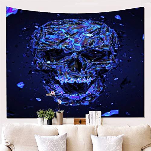 ruck Tapisserie Wandbehang - Halloween Dekor 3D Schädel Kunst Tapisserie Dekor - Wandbehang Wohnkultur für Wohnzimmer Schlafzimmer Dorm Zimmer (Muster # 21, 150 * 100cm) ()