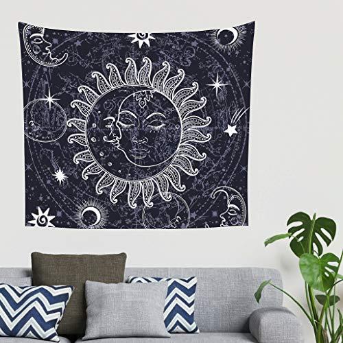 XHJQ88 Sonne Mond Stern Design Tapisserie Bohemian universell Bettlaken - Kompass Musterdruck für Schlafzimmer