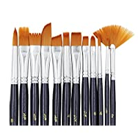 A+Selected Professional Artist Paint Brushes Set Nylon Hair Acrylic Paint Brush for Watercolour Oil Acrylic Crafts Rock Face Painting