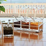 Jk Transparet Acrylic Seasoning Box Case Condiment Bottles Set Salt Spice Rack/Jar Storage Box Container Kitchen Tool