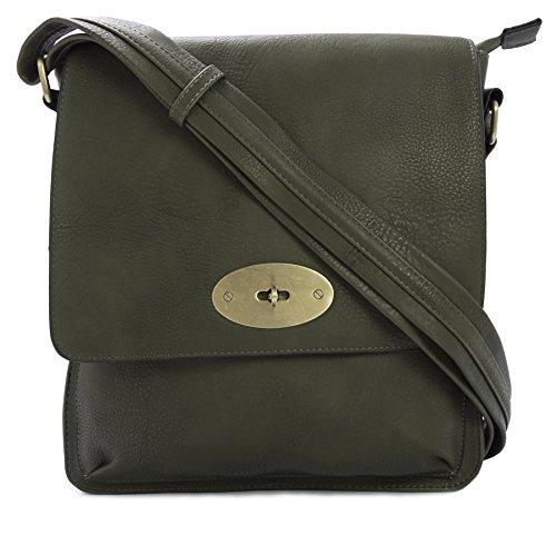 Big Handbag Shop, Borsa a tracolla donna Verde (Verde oliva)