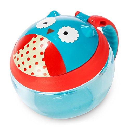 Skip Hop Zoo Snackcup, Snackbox, Aufbewahrungsbehälter für Kinder, mehrfarbig, Eule Otis