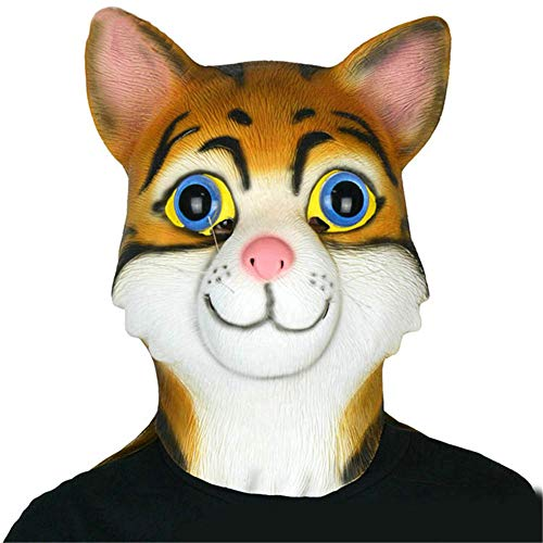 Theater Kostüm Masquerade - WJHFF Halloween Cat Mask Masquerade Cosplay Requisiten