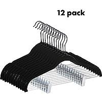 LNSTUDIO 12 Pack Closet Velvet Hangers,Space Saving Non Slip 360 Degree Swivel Hook Clothes Hangers