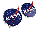 Adhesivo contorno, diseño: National Aeronautics and Space Administration Nasa, 110 x 85 mm, 2 unidades)
