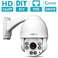 Reolink-423 4X Optial Zoom IP Security Camera PTZ 4MP POE,Outdoor,