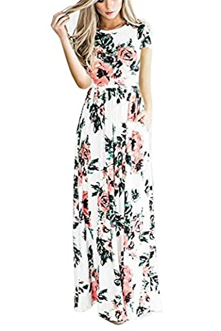 Miss Floral® Womens Short Sleeve Floral Printed Maxi Dress 4 Colour Size 6 - 16