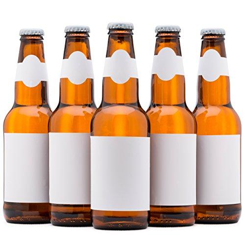 Bier Etiketten, wasserfest, blanko zu personalisiert werden, Bier Flasche Etiketten 40Stück, Inkjet kompatibel