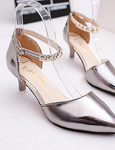 GS~LY Da donna-Tacchi-Casual-Tacchi-A stiletto-Vernice-Rosa / Grigio / Dorato golden-us6 / eu36 / uk4 / cn36