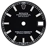 Rolex Ostrica Perpetual Datejust 17834424mm nero quadrante per orologio, 31mm
