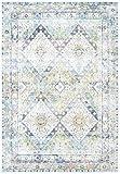 CarpetFine: Tapis Vintage Heaven 80x150 cm Bleu - Ornamental