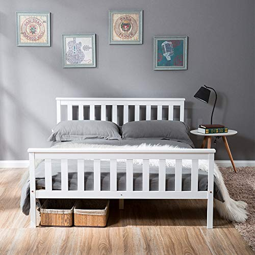 LIFE CARVER Double Bed Wooden Fr...