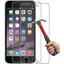 [2-Unidades] iPhone 6s Protector de Pantalla Hepooya Cristal Templado iPhone 6 /6s [Alta Definicion] [ sin Burbujas] [ 9H Dureza] Pantalla iPhone 6s [Compatible con 3D Touch ][Ultra-trasparente] [Anti-golpe] [Ajuste Perfecto] Protector iPhone 6