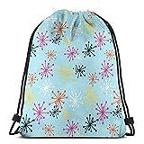 "Weird and Wonderful (Coord1) Drawstring Shoulder Bags Gym Bag Travel Backpack Lightweight Gym for Men Women 16.9""x14"""