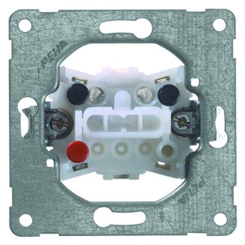 PEHA 00190511 Grundelement Wippschalter mit Steckklemmen für alle Unterputz-Programme 10 A 250 V, Serienschalter