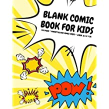 Blank Comic Book for Kids: 135 Pages, Variety Blank Comic Strips, Atomic Yellow