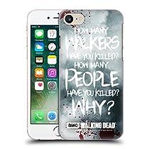 Officiel AMC The Walking Dead Rick Questions Citations Étui Coque D'Arrière Rigide Pour Apple iPhone 7
