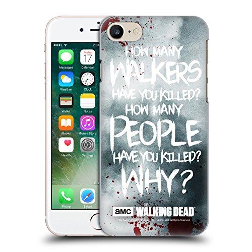 Officiel AMC The Walking Dead Rick Questions Citations Étui Coque D'Arrière Rigide Pour Apple iPhone 7, Coques iphone