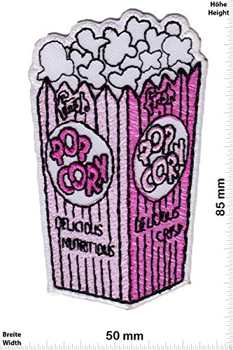 Patch - Pop Corn - Purple - Fun - Fun - Fun - Aufnäher - zum aufbügeln - Iron On -