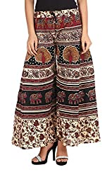 Soundarya Womens Cotton Palazzo (Multicolor, 40)