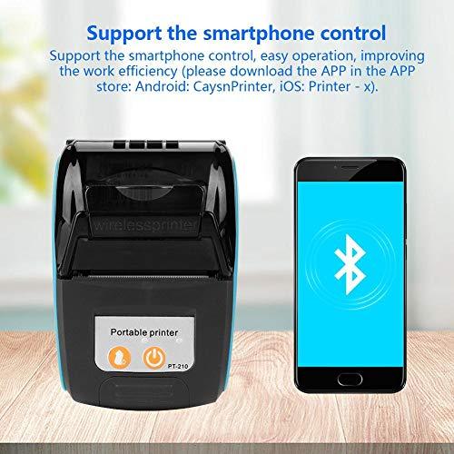 Tonysa Portátil Mini Impresora Tickets Térmica Bluetooth