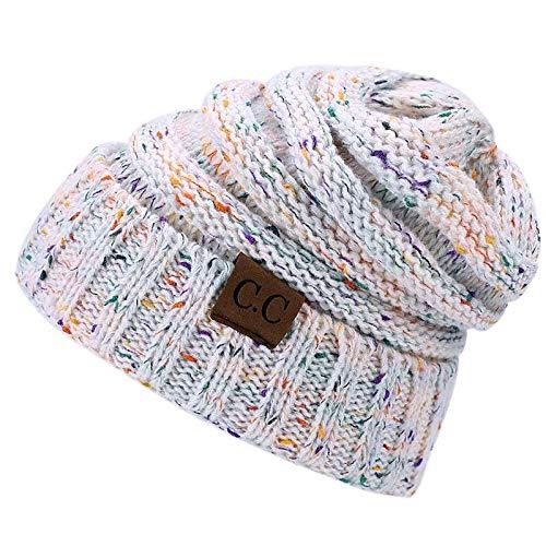 HAOLIEQUAN Dames De La Mode en Tricot Bonnet Chapeau Hiver Femme Chapeau Homme Femme Bonnets Chaud Skullies Épaississent Hedging Cap