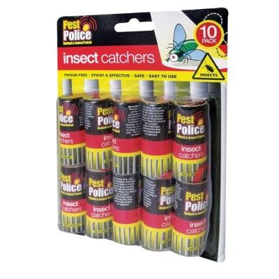 10 Sticky Paper Fly Catchers No Fumes No Mess Sticky Tape For Catching Them Unwanted Insects...free Shipping