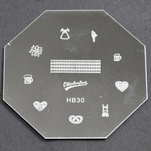 Nail Art emboutissage des tôles - HB30 CODE : HB30-plaque