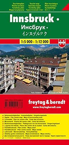 Innsbruck 1:5.200 1:12.000: Stadskaart 1:5 000 / 1:12 000 por Freytag-Berndt und Artaria KG