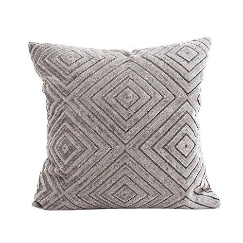 OYSOHE Kissenbezug Solide Beflockung Kissen Bezüge Sofa Taille Wurf Kissenbezug Home Decor,45X45cm(C,Einheitsgröße