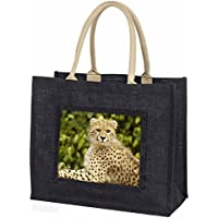 Cheetah Large Black Shopping Bag Christmas Present Idea