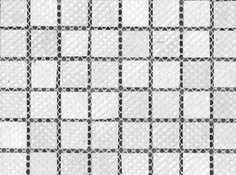 Interceramic INSBM1X1GARCT Shimmer Blends Mosaic Glass Tile, 1-by-1-Inch Tile on a 12-by-12-Inch Mosaic Mesh, Garden Matte,