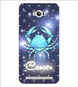 PrintDhaba Zodiac Cancer D-5767 Back Case Cover for ASUS ZENFONE MAX ZC550KL (2016) (Multi-Coloured)