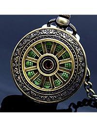 YUNDING Montre De Poche Romaine Vintage, Cadran Lumineux, Style Steampunk/Équipement, Découpe/en Relief, Bracelet Antique/Métal, Cadeau