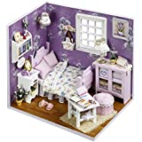 [Sponsored]Doll House - Sweet Sunshine Series Dollhouse Miniature DIY House Kit Creative Room With Furniture & Accessories - Perfect DIY Gift For Kids, Children, Teens, Friends, Families, Birthday/Valentine's Day By KARP - Purple Color