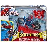 Spiderman - Mega Blaster, figura con moto (Hasbro A2945)