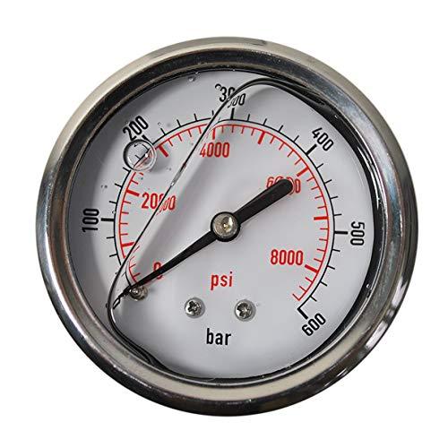 HELO '175329-7' Glycerin gefüllte 0-600 bar Manometer, 63 mm Ø, 1/4