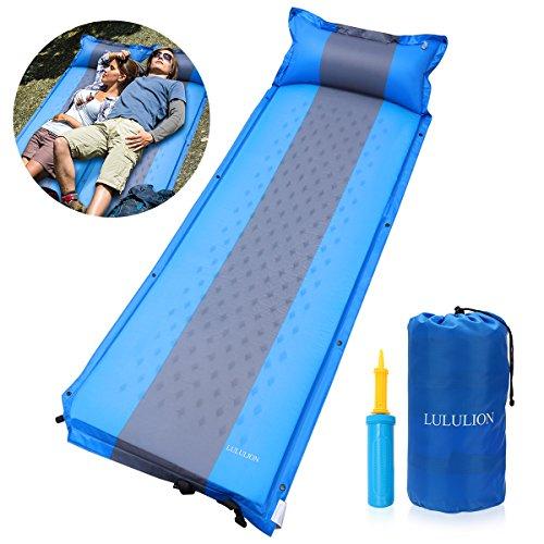 LULULION selbstaufblasbare Isomatte, Luftmatratze selbstfüllend, fürs Zelten, Outdoor Liegematte le