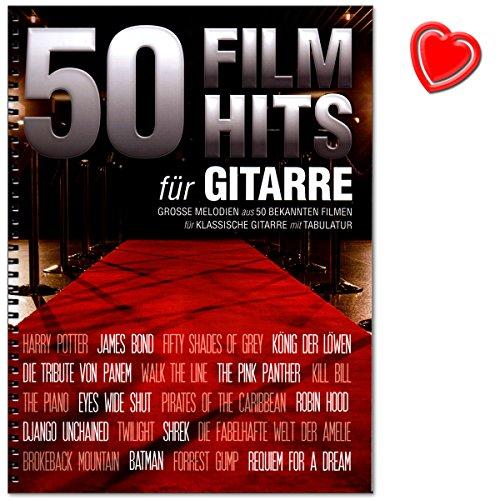 50Film Hits pour guitare50la et mitreiendsten chansons et les plus populaires questions en Clbre FilmsSONGBOOK pour guitare classique avec tablature et color Cur Note PinceVerlag Bosworth Musicboe78559783865439604