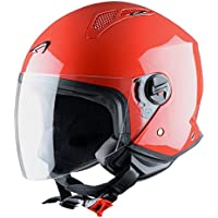 Astone Helmets Mini Jet Army Casco Jet, color Rojo, talla L
